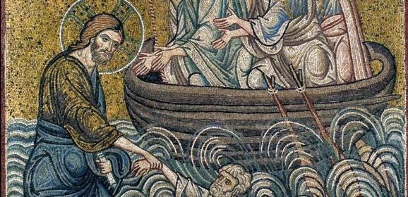 Mersul pe apă şi teama de vânt